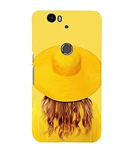 PrintVisa Cool Yellow 3D Hard Polycarbonate Designer Back Case Cover for Huawei Nexus 6P :: Huawei Google Nexus 6P