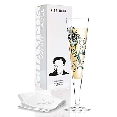 RITZENHOFF White Label Champagnerglas, Glas, Mehrfarbig, 7 x 7 x 24 cm (Verschweigen Jagd)