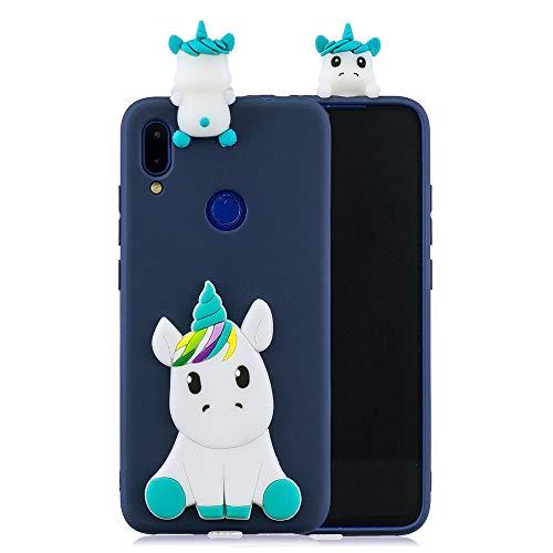 Totoose Xiaomi Mi MAX 2 Estuche del teléfono, Estuche Protector Ultra Delgado Contraportada Funda Protectora Duradera Cubierta de Parachoques Trasero [Azul Oscuro Unicorn]
