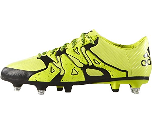 adidas Childrens X 15.3 Soft Ground Football Boots Shoes Kids Yellow
