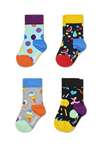 ht farbenfrohe Baumwollsocken in der Geschenkbox für Kinder ()