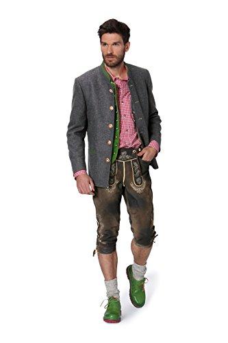Stockerpoint - Herren Trachten Janker aus reiner Schurwolle, Maximilian, Größe:54;Farbe:Anthrazit