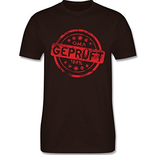 Eltern - Oma geprüft - L190 Herren Premium Rundhals T-Shirt Braun