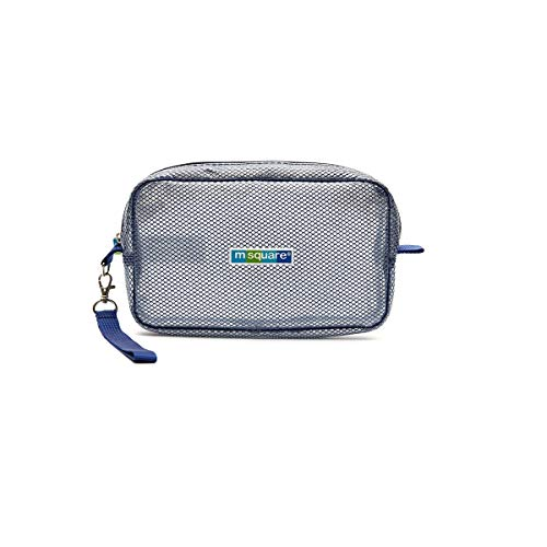 Sac à cosmétiques de voyage multifonction de haute qualité - Boîte de rangement de voyage, Imperméable, Transparent, Portable (Color : Blue)