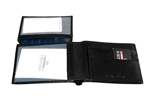 Portafoglio uomo EGON FURSTENBERG nero in pelle porta carte di credito A4320