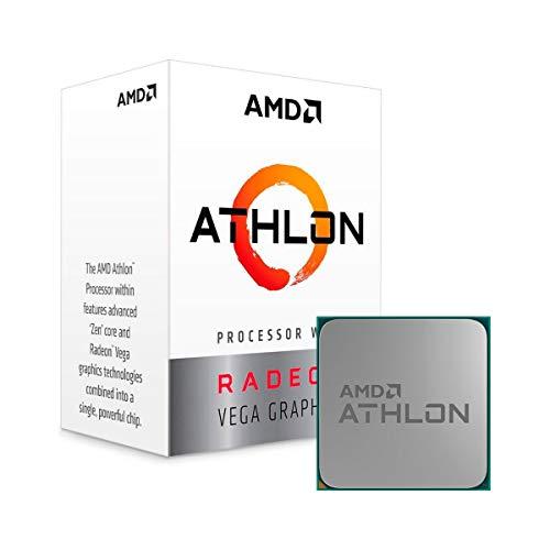 AMD Athlon 200GE 2-Core, 4-Thread, 3.2GHz AM4 Socket Desktop Processor with Radeon Vega 3 Graphics