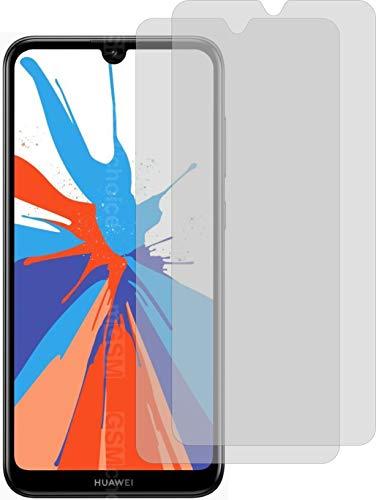 2X Crystal Clear klar Schutzfolie für Huawei Y7 Prime 2019 Displayschutzfolie Bildschirmschutzfolie Schutzhülle Displayschutz Displayfolie Folie