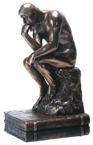 YTC 19,7 cm The Thinker Nude Male Statue Figurine, DE Couleur Bronze par