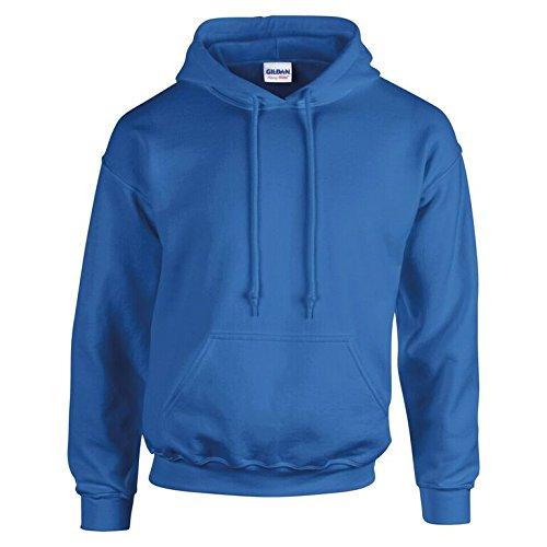 Bestickt Pocket Tee (gd057heavyblendtm Kapuzen Sweatshirt von Gildan, frei Porto, kann bedruckt oder bestickt, Blau - Königsblau, XXXL 137,16 cm/142,24 Brust)