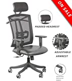 Seat Chacha ® Extra High Back Mesh Office Chair - Adjustable Arms Ergonomic