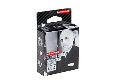 Lomography Lady Grey 120 mm 400 ISO negro y blanco – (Pack de 3)