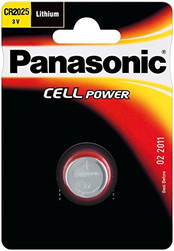 Preisvergleich Produktbild Panasonic 5Stück Knopfzellen Cell Power CR2025Lithium 3V