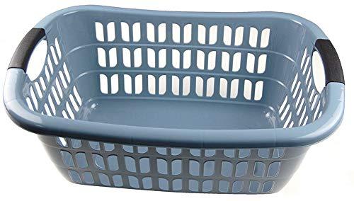WÄSCHEKORB WÄSCHEKÖRBE KUNSTSTOFF WÄSCHE KORB Wäschekorb Plastik (Grau)