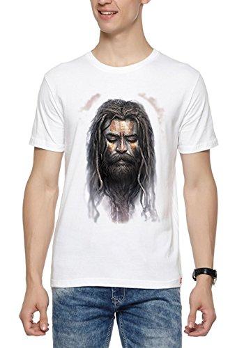 WYO Mens Holy Cow Aghori Face Graphic Printed Spiritual T-Shirt