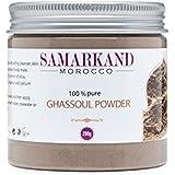 Ghassoul Arcilla en Polvo (Rhassoul) - Arcilla Limpiadora y Mascarilla para Cara y Pelo 100% Ecológica de Marruecos 200 g