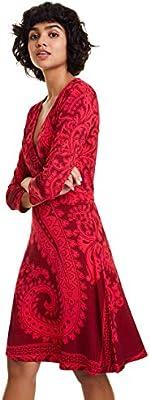 Desigual Dress Marlene Vestido, Rojo (Rojo Oscuro 3029),  para Mujer