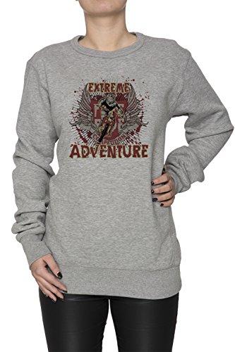 Extreme Adventure Donna Grigio Felpa Felpe Maglione Pullover Grey Women's Sweatshirt Pullover Jumper