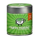 Mighty Matcha Tea | Organic Matcha Green Tea Powder | 30g Ceremonial Grade Tin | Award Winning Single Source First Harvest | Soil Association Certified