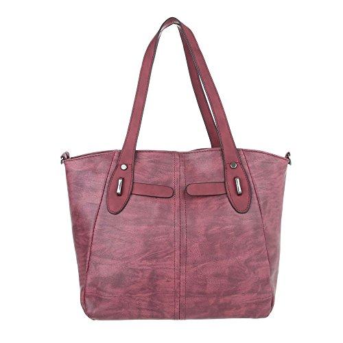 Taschen Handtasche In Used Optik Weinrot