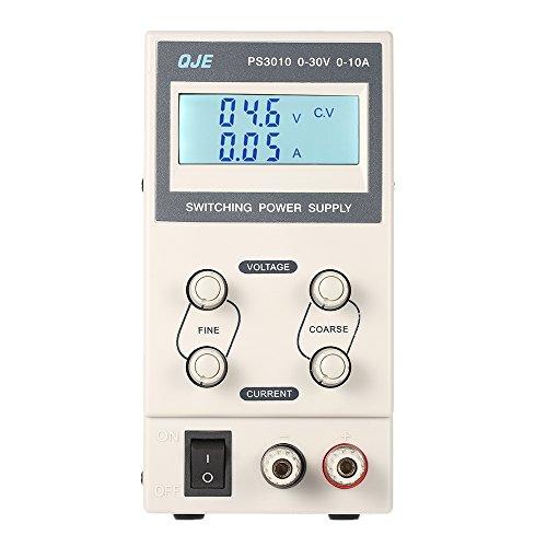 KKmoon Schaltnetzteil 0-30V 0-10A 3 Digits LCD Digital Anzeige/DC Ausgangsspannung Aktuelle Einstellbar (Lcd-digitalanzeige)