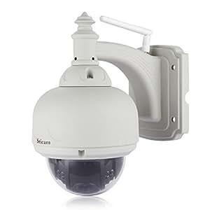 Sricam Caméra de surveillance Wireless Wifi 4-9mm objectif zoom Caméra IP de sécurité Outdoor CCTV Security Waterproof Visionner sur smartphone et tablette etc