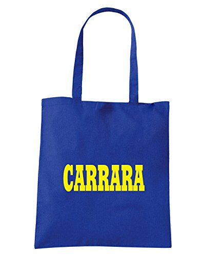 T-Shirtshock - Borsa Shopping WC0984 CARRARA ITALIA CITTA STEMMA LOGO Blu Royal