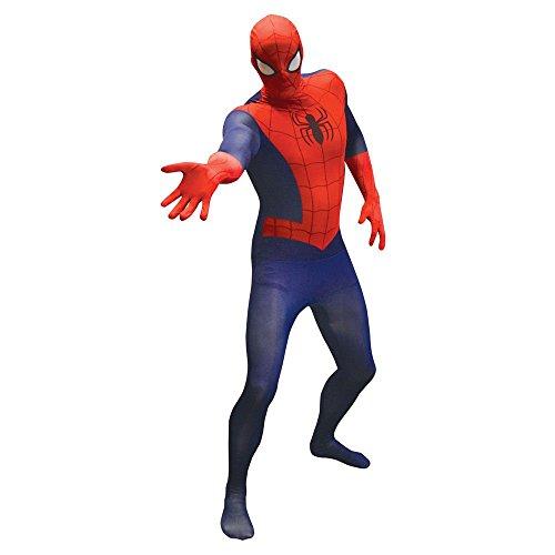 (Morphsuit Marvel Superhelden Kostüm Deadpool Spiderman CPT America Zentai Suit (Spiderman/XL))