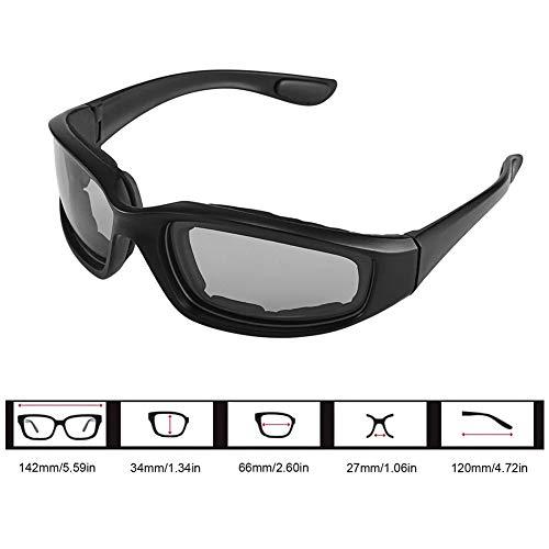 Motorrad Sonnenbrille,Winddicht Polarisierte Motorrad Objektiv Sonnenbrille Reiten Radfahren Biker Sport Wrap für Fahrrad Moto Wandern Outdoor Sport