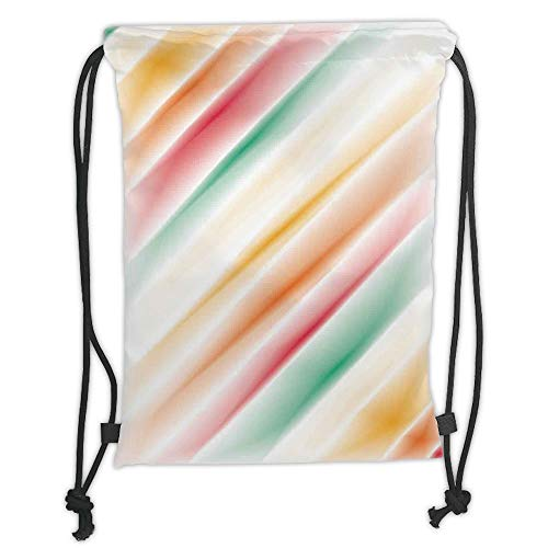 LULUZXOA Gym Bag Printed Drawstring Sack Backpacks Bags,Modern Art Home Decor,Purity Complex Themed Blurry Gradient Diffraction Display Creative Concept,Multi Soft Satin -