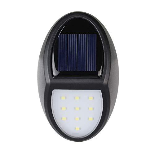 Lisanl IP65 Solar Wandlampe 10 LED Wasserdicht Landschaftsbeleuchtung Außenbeleuchtung mit intelligenter Lichtsteuerung