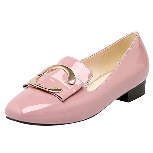 Mee Shoes Damen Slip on Geschlossen vierkant Pumps Pink