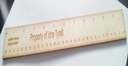 PERSONALISED WOODEN RULER HAVE IT YOUR WAY CMS - INCHES