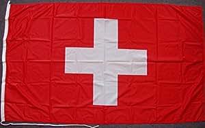 Flagge Fahne Schweiz ca. 20 x 30 cm, 110 g/m² Polyesterwirkware