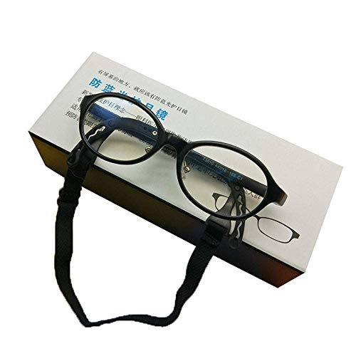 Giow Brille Kinder-Schutzbrille gegen Blau, strahlungsfestes und ermüdungsfreies Computer-Handy, TR-Silikon passt die Schläfen für Jungen und Mädchen im Alter von 2-5 Jahren um 0 ° optisch an