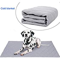 Sahgsa Alfombra de enfriamiento para Perros Almohada de enfriamiento para refrescarse en el Calor del Verano Anti Golpe de Calor para Mascotas Verano Clima cálido Accesorios para Mascotas