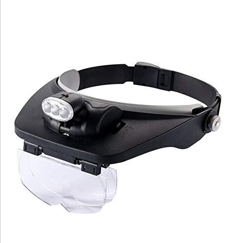 MODYL Lupe Große Spiegel HD Alten Mann Lese Reparatur Mit LED-Leuchten Kopf-Montierte Lupe