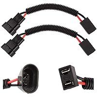 TOMALL H1 H3 a 9005 9006 Reequipamiento del arnés de cableado para el faro LED Adaptador de enchufe del conector de la luz antiniebla 40cm (16 pulgadas)