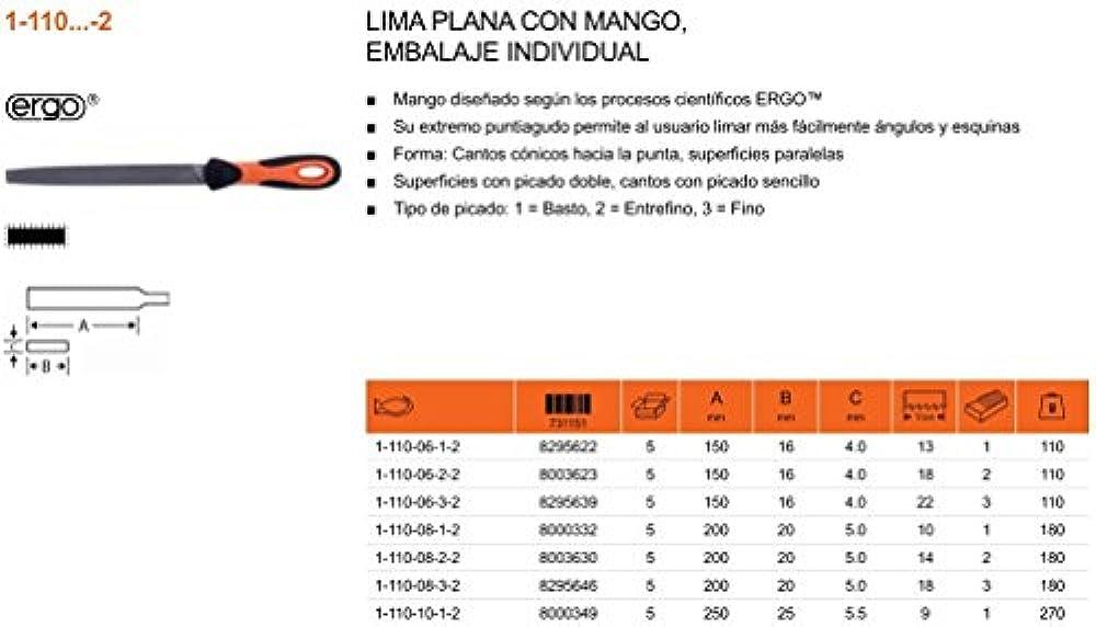 Rundfeile DIN 7261 Form F Länge 200 mm Querschnitt 8,0 mm Hieb 1,2 oder 3 PROMAT