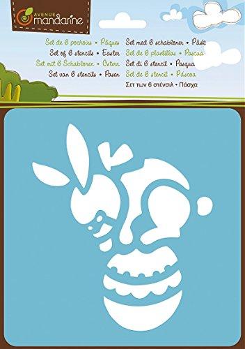 Avenue Mandarine-Stampini pasquali, in plastica, colori assortiti, Set da 6