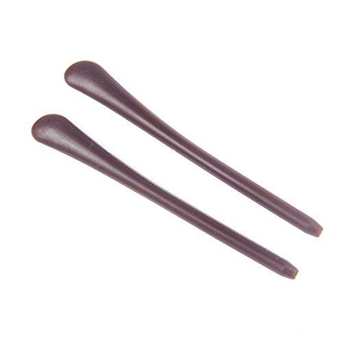 YouY® 2PCS Silikon Antirutsch Brillenbügel Überzüge für Bügelenden / Brillenbügel Silikon Socke Braun