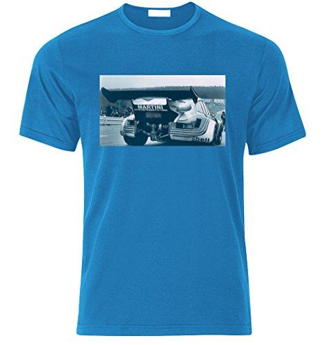 Porsche 911 RSR TURBO 1974 vintage Fan T Shirt T-SHIRT AZURE BLAU