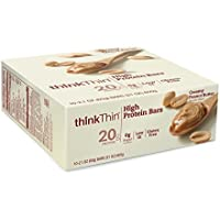 thinkThin High Protein Bars, Creamy Peanut Butter, 2.1 Ounce (pack of 10)