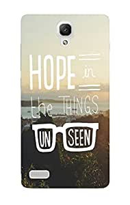 Back Cover for Redmi Note 3G,4G hope in the things unseen