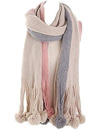 093facb1246 Amazon.fr   Pompons - Pashminas   Echarpes et foulards   Vêtements