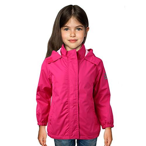 Andake Wasserabweisende & windabweisende Übergangsjacke mit Fleece Innerfutter, Allwetterjacke, Regenjacke, Windjacke, dünne Kinderjacke,...