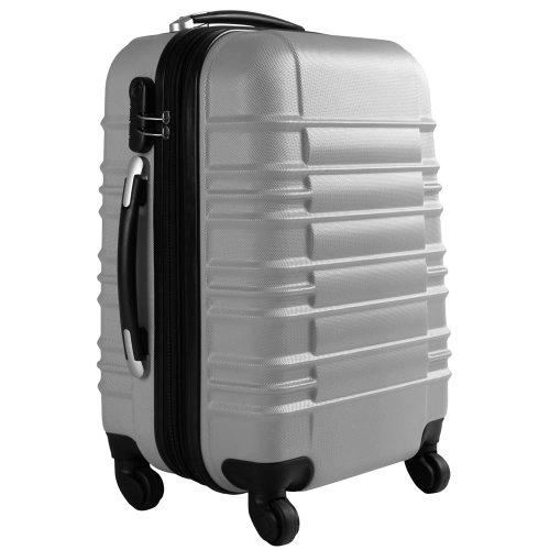 Vojagor 4 tlg. Trolley Koffer Hartschalen Set - Reisekoffer mit 4 Rollen 360°, S,M,L,XL (ineinander stapelbar) Farbwahl