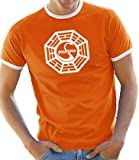 Touchlines T-Shirt S-XXL Dharma / Lost Logo Crew Neck Contrast Various Colours