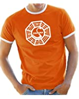 Touchlines T-Shirt S-XXL Dharma / Lost Logo Crew Neck Contrast Various Colours
