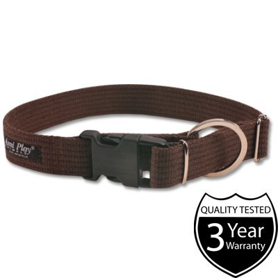 ami-play-cotton-dog-soft-and-adjustable-collar-medium-brown