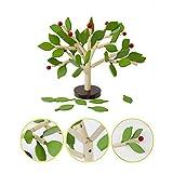 1set Creative Wood Building Blocks Tree Set Aus Holz Zusammengebautes Spielzeug Pädagogisches Spielzeug Aus Holz-Baum-Spielzeug Für Kinder, Green Leaf -
